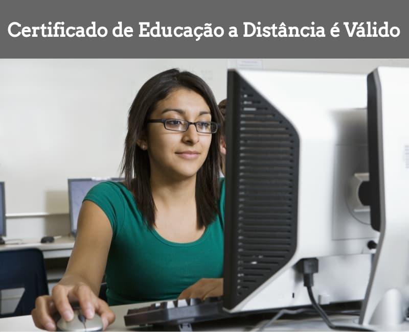 Certificado de educação a distância é válido